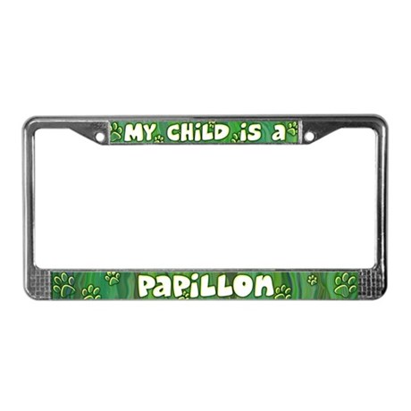 My Kid Papillon License Plate Frame