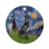Great dane starry night Ornaments