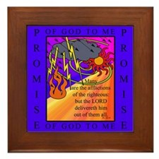 PSALMS 34:19 Framed Tile