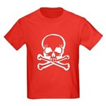 Skull and Crossbones Kids Dark T-Shirt