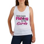 Silly boys, fishing is for girls! Women's Tank Top