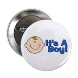 It's A Boy Baby Announcerment 2.25&quot;Button 10 pack)