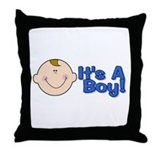 Cute It's boy Throw Pillow
