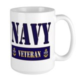 Navy Veteran Block Mug