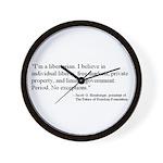 Libertarian Quote Wall Clock