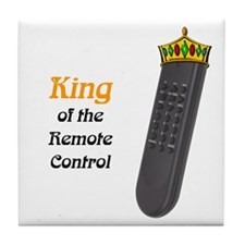King of the Remote Control Tile Coaster