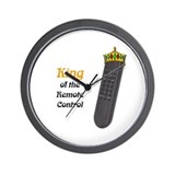King of the Remote Control Wall Clock