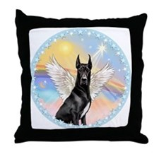 W-Great Dane Angel Throw Pillow