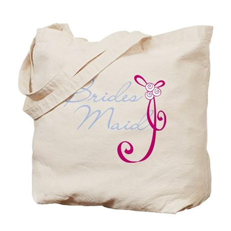 Wedding Ribbon Bridesmaid Tote Bag