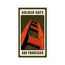 Golden Gate Rectangle Sticker 10 pk)