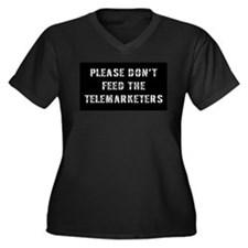 Please don't feed the telemar Women's Plus Size V-