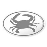 Crab SILHOUETTE Oval Decal