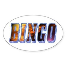 Bingo Text Oval Decal