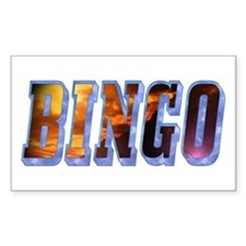 Bingo Text Rectangle Decal