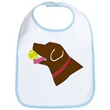 Chocolate Lab Bib