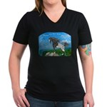 Appaloosa Dreams Women's V-Neck Dark T-Shirt