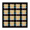 Spotted Floral Shagreen Pattern Tile Coaster