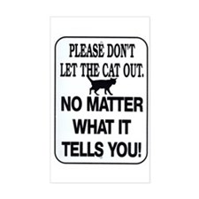 Cat Out Rectangle Decal