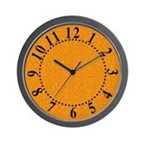 Rough Orange 04 Wall Clock