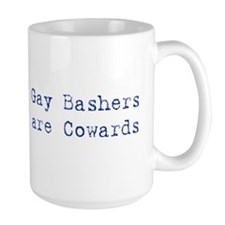 Gay bashers are cowards Mug