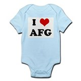 I Love AFG Infant Bodysuit