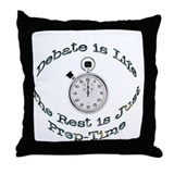 Debate is Life Throw Pillow