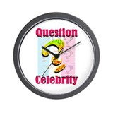 Question Celebrity 2 Wall Clock