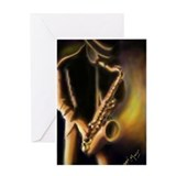 Unique Jazz blues Greeting Card