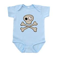 One-Eyed Skull Infant Bodysuit