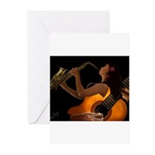 Unique The jazz singer Greeting Cards (Pk of 20)