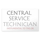 Central Service Tech Rectangle Decal