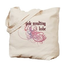 Pole Vaulting Babe Tote Bag
