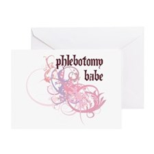 Phlebotomy Babe Greeting Card