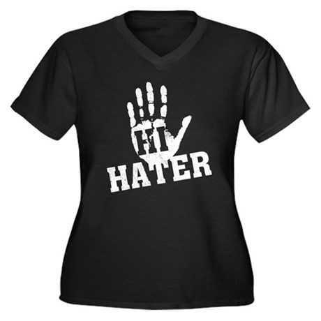 Hi Hater Plus Size V-Neck Shirt