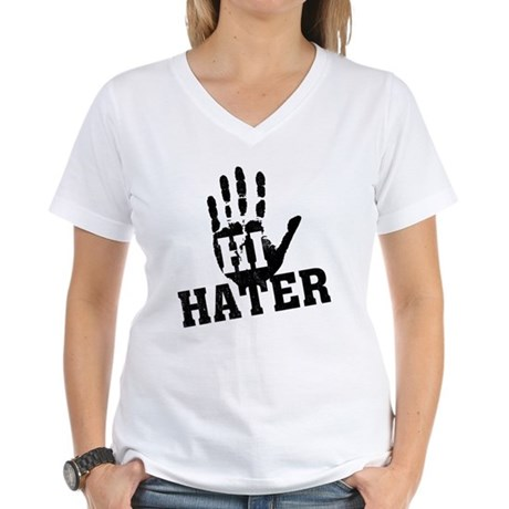 Hi Hater Womens V-Neck T-Shirt