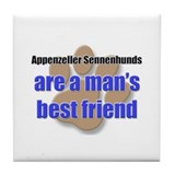 Appenzeller Sennenhunds man's best friend Tile Coa