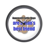 Appenzell Cattle Dogs man's best friend Wall Clock