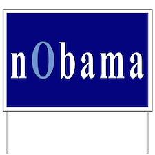 Baby Blue nObama Yard Sign