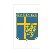 Sverige Rectangle Decal
