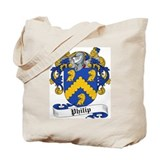 Philip Family Crest Tote Bag