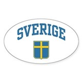 Sverige Oval Decal