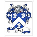 Philips Family Crest Small Poster