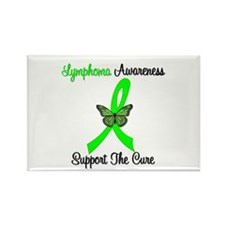 Lymphoma Butterfly Rectangle Magnet