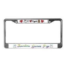 I Love Piggies/RGP License Plate Frame