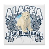 Polar Bear Alaska Tile Coaster