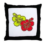 Tropical Hibiscus Set Throw Pillow