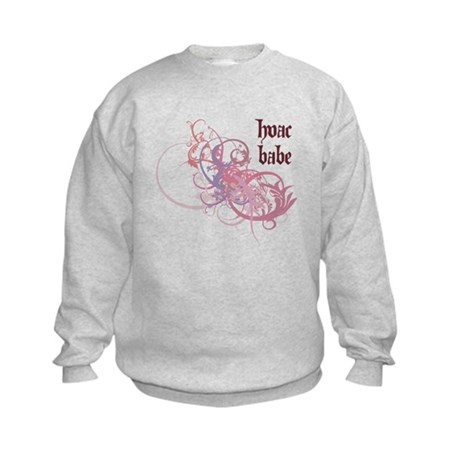 HVAC Babe Kids Sweatshirt