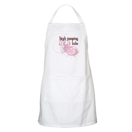 High Jumping Babe BBQ Apron