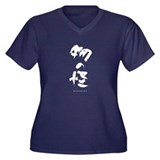 Mononoke Women's Plus Size V-Neck Dark T-Shirt