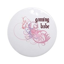 Gaming Babe Ornament (Round)